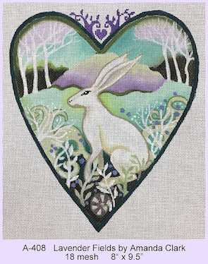 click here to view larger image of Lavender Fields Heart (hand painted canvases)