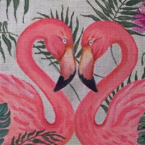 click here to view larger image of Flamingo Pair (hand painted canvases)