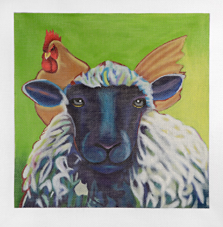click here to view larger image of Sitting on Top of the Wool (hand painted canvases)
