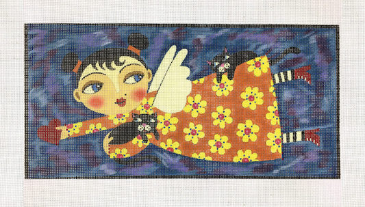 click here to view larger image of Angel in Yellow Dress (hand painted canvases)