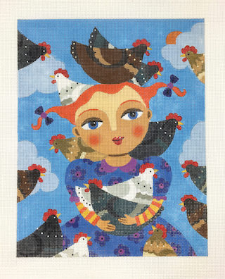 click here to view larger image of Chickens (hand painted canvases)
