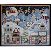 click here to view larger image of Christmas Eve (hand painted canvases)