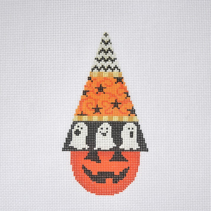 click here to view larger image of Halloween Hats- Ghosts with Stitch Guide (hand painted canvases)