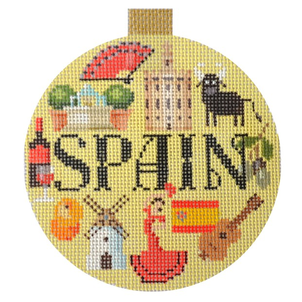 click here to view larger image of Travel Round - Spain (hand painted canvases)