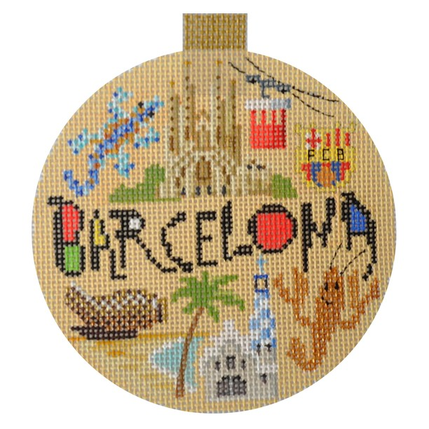 click here to view larger image of Travel Round - Barcelona (hand painted canvases)