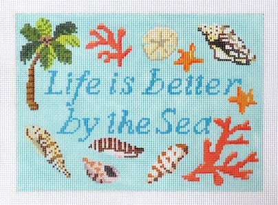 click here to view larger image of Life Is Better By The Sea (hand painted canvases)