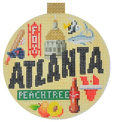 click here to view larger image of Travel Round - Atlanta (hand painted canvases)