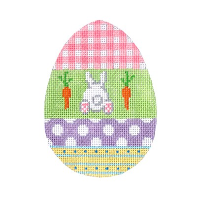 click here to view larger image of Eggceptionally Gingham (hand painted canvases)