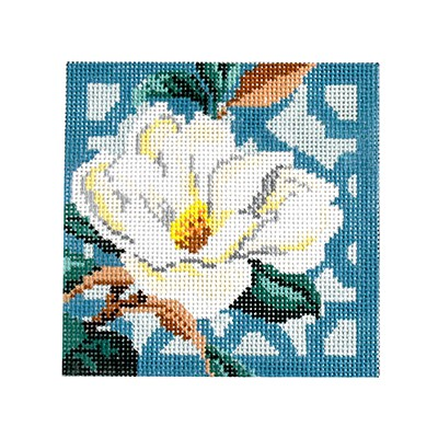 click here to view larger image of Trellis Coaster - Magnolia (hand painted canvases)