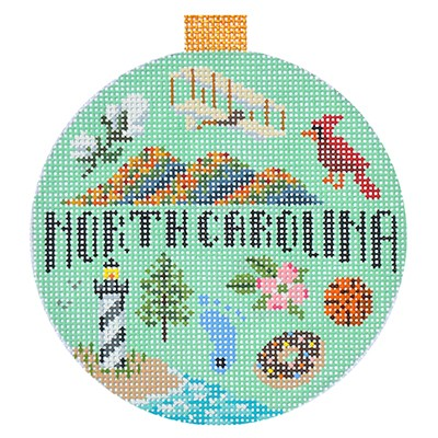 click here to view larger image of Travel Round - North Carolina (hand painted canvases)