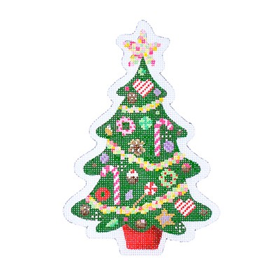 click here to view larger image of Christmas Candy Tree (hand painted canvases)