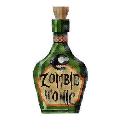 click here to view larger image of Zombie Tonic Poison Bottle (hand painted canvases)