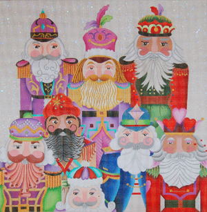 Jolly Nutcracker Pillow hand painted canvases