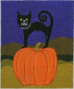click here to view larger image of Black Cat (hand painted canvases)