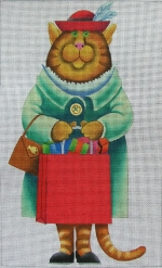 click here to view larger image of Shopper Cat (hand painted canvases)