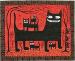 click here to view larger image of 8 Black Cats (hand painted canvases)