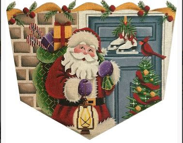 click here to view larger image of Santa at the Door - 13M (hand painted canvases)