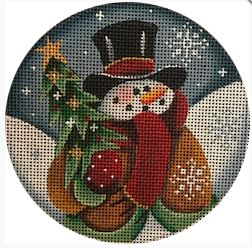 click here to view larger image of Snowman - 13M (hand painted canvases)