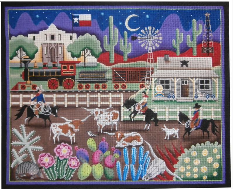 click here to view larger image of Texas (hand painted canvases)