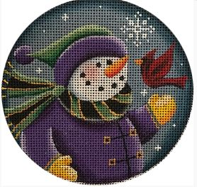 click here to view larger image of Snow Child and Cardinal - 13M (hand painted canvases)