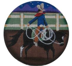click here to view larger image of Roping - 13M (hand painted canvases)