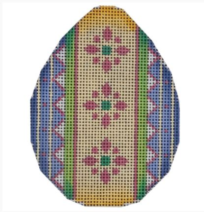 click here to view larger image of Lavender and Yellow Egg - 18M (hand painted canvases)