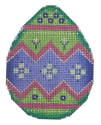 click here to view larger image of Green and Purple Egg - 18M (hand painted canvases)