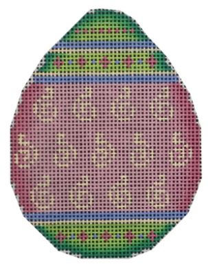 click here to view larger image of Green and Pink Egg - 18M (hand painted canvases)