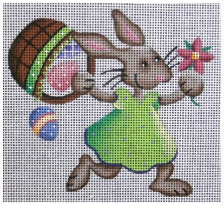 click here to view larger image of Green Bunny - 18M (hand painted canvases)