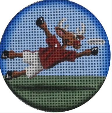 click here to view larger image of Frisbee Reindeer 18M (hand painted canvases)