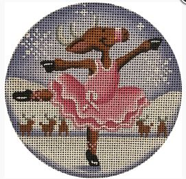 click here to view larger image of Pink Ballerina Reindeer Ornament (hand painted canvases)