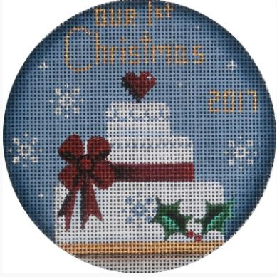 click here to view larger image of First Christmas Cake Ornament (hand painted canvases)