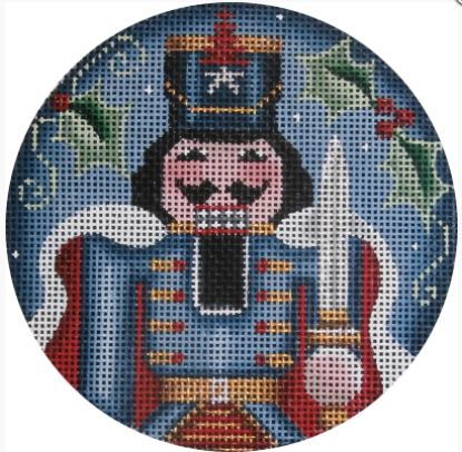 click here to view larger image of Nutcracker Prince Ornament (hand painted canvases)