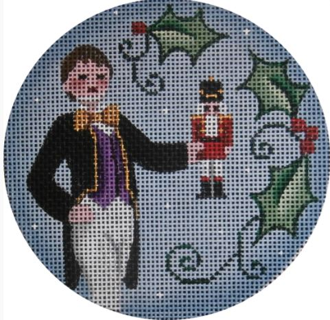 click here to view larger image of Fritz Ornament (hand painted canvases)