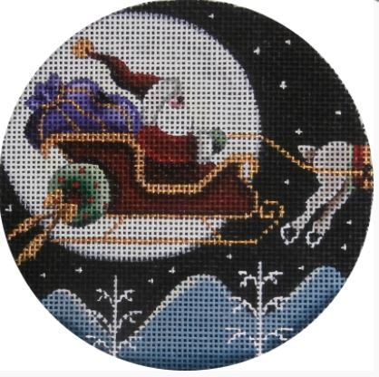 click here to view larger image of Moon Lite Sky Ornament (hand painted canvases)