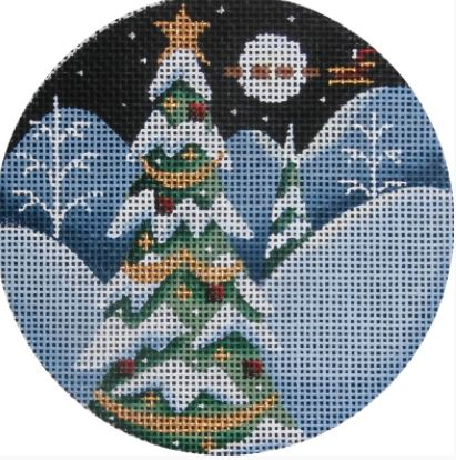 click here to view larger image of Tall Tree Ornament (hand painted canvases)