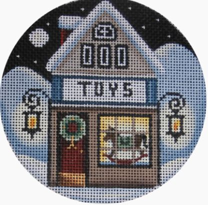 click here to view larger image of Toy Shop Ornament (hand painted canvases)