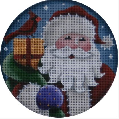 click here to view larger image of Santa's Present Ornament (hand painted canvases)