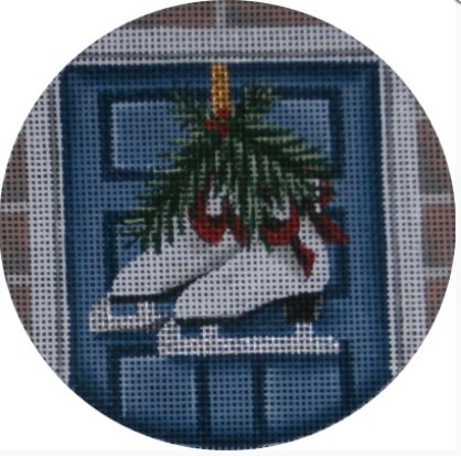 click here to view larger image of Ice Skates Ornament (hand painted canvases)