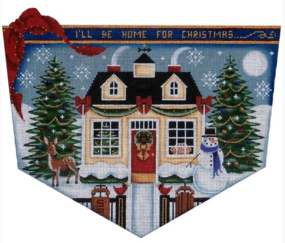 click here to view larger image of Christmas Cottage Cuff - 18M (hand painted canvases)