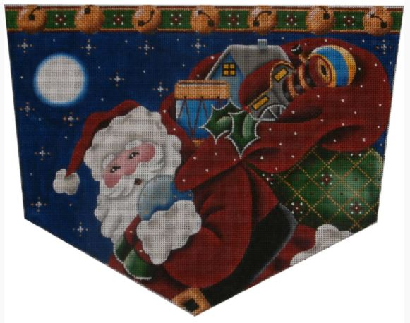 click here to view larger image of Santa's Toy Cuff - 13M (hand painted canvases)