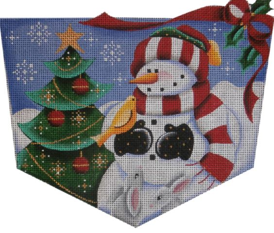 click here to view larger image of Forest Snowman Cuff - 18M (hand painted canvases)
