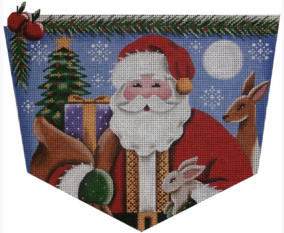 click here to view larger image of Forest Santa Cuff - 13M (hand painted canvases)