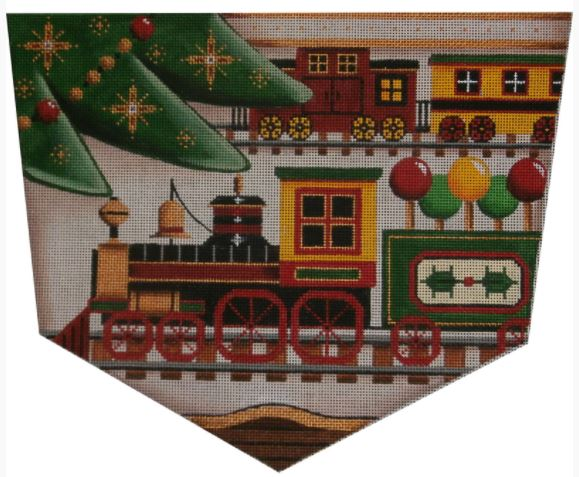 click here to view larger image of Christmas Train - 18M (hand painted canvases)