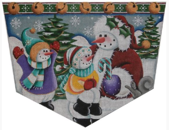 click here to view larger image of Snow Kids Cuff - 18M (hand painted canvases)