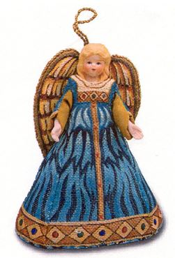 click here to view larger image of Russian Angel - 6 pcs (hand painted canvases)