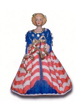 click here to view larger image of Patriot Doll - 7 pcs (hand painted canvases)