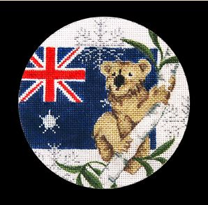 click here to view larger image of Australia Ornament (hand painted canvases)