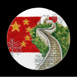 click here to view larger image of China Ornament (hand painted canvases)