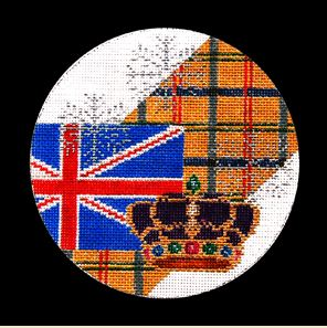 click here to view larger image of England Ornament (hand painted canvases)